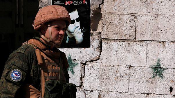 جندي روسي في الغوطة