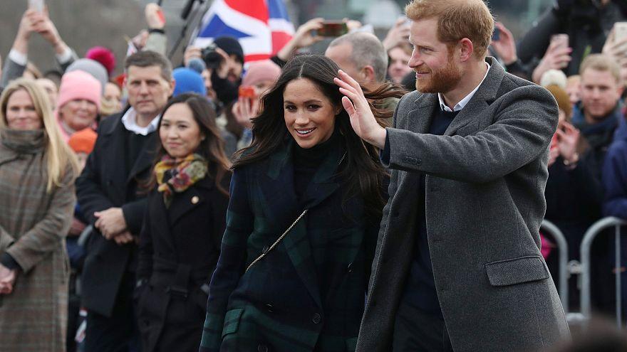الأمير هاري وخطيبته ميغان ماركل