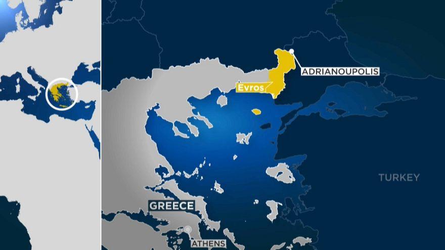 Il confine tra Grecia e Turchia dove sono stati arrestati i militari greci.