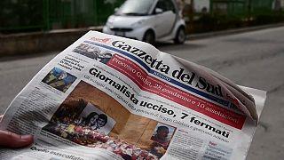 Mordfall Kuciak auf den süditalienischen Titelseiten