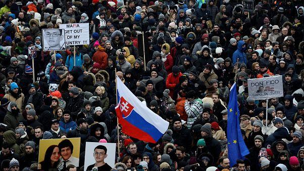 Σλοβακία: Πορεία διαμαρτυρίας για το θάνατο του δημοσιογράφου