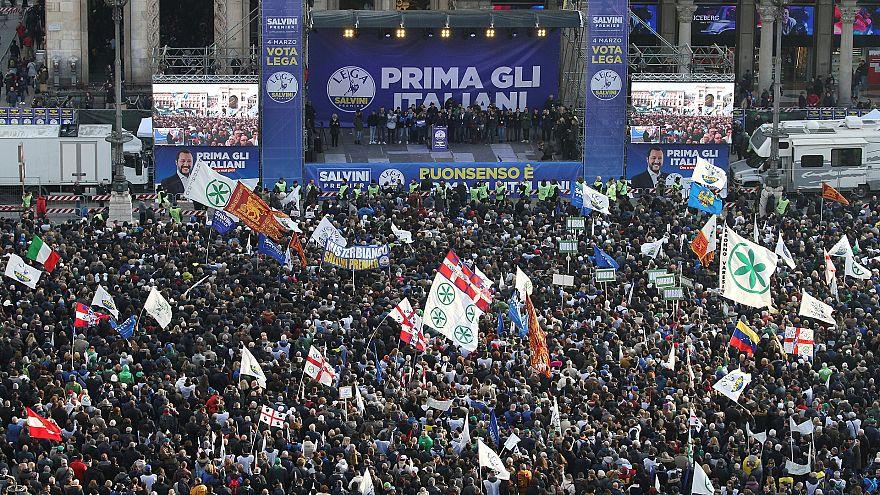Предвыборный митинг «Лиги»