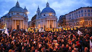 Συγκέντρωση του Κινήματος Πέντε Αστέρων στη Ρώμη