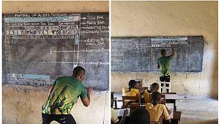 غانا: برامج كومبيوتر على لوح المدرسة الخشبي
