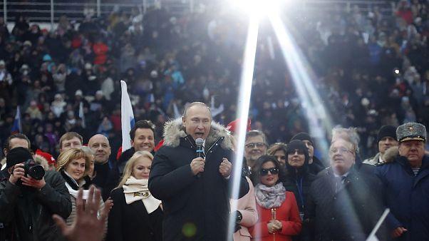 Russie : premier meeting de campagne pour Vladimir Poutine
