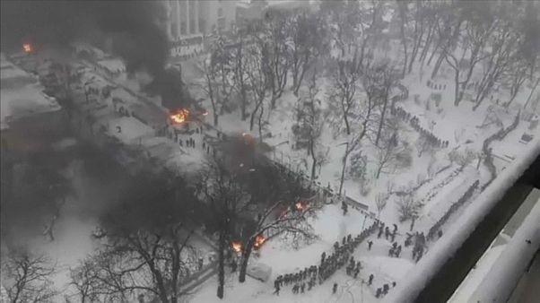 Kiev, violenti scontri tra polizia e sostenitori Saakashvili