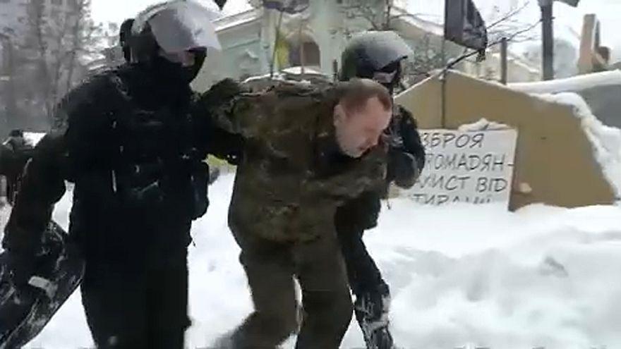 Felszámolták az aktivisták táborát Kijevben
