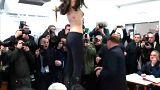 İtalya seçimleri: Femen'den Berlusconi'ye protesto