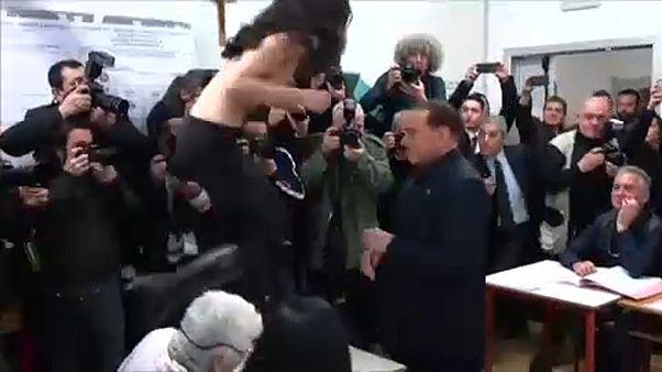 Femen-aktivista várta Berlusconit