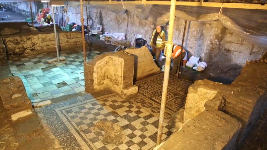 """Roma: scoperta durante gli scavi della metro C la """"casa del comandante"""""""