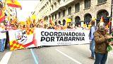 Il movimento Tabarnia in piazza contro i Secessionisti