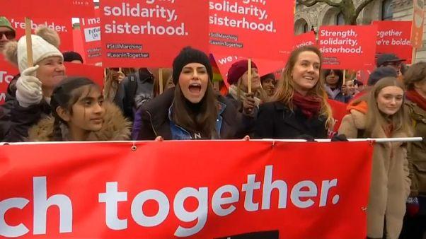 Marcha en Londres en favor de los derechos de la mujer