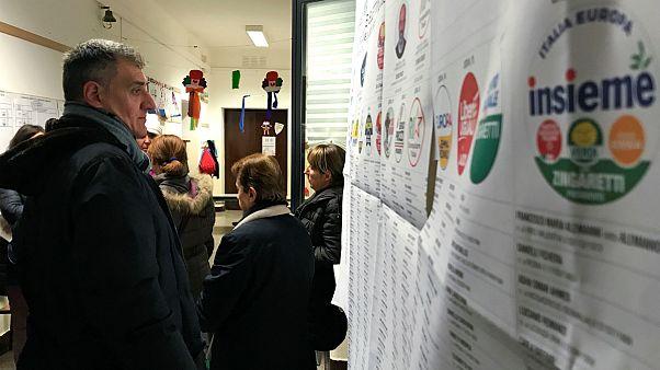 یکی از مراکز رای گیری انتخابات ایتالیا