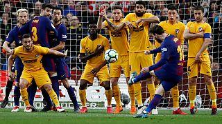 پیروزی یک بر صفر بارسلون مقابل اتلتیکو مادرید