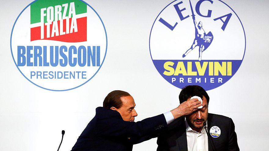 Berlusconi et Salvini législatives Italie.