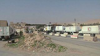 Llega un primer convoy humanitario a Guta Oriental