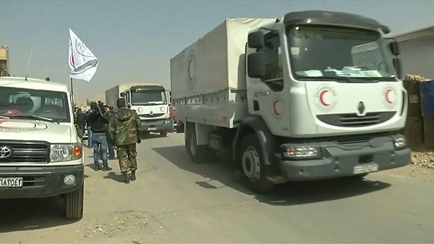 UN-Hilfskonvoi in Syrien erreicht Ost-Ghuta