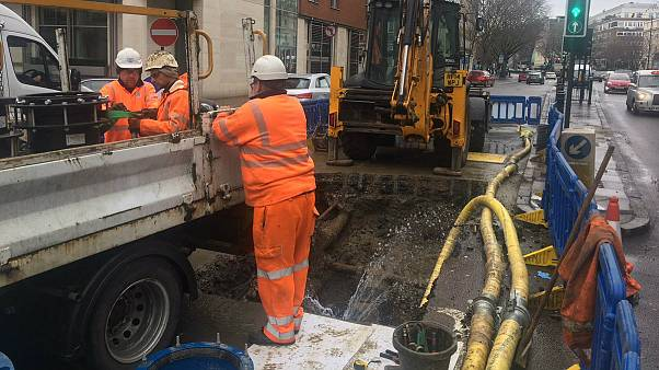 Thousands in Britain left without water after pipes burst in big freeze