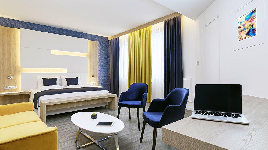 A budapesti KVI hotel egy szobája