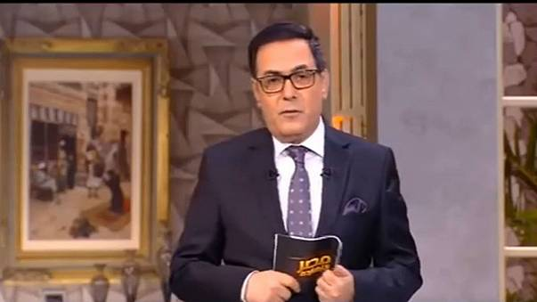 """الصورة من حلقة برنامج """"مصر النهاردة"""" التي تسببت في حبس المذيع خيري رمضان"""