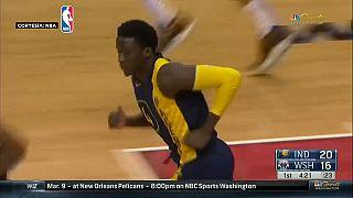 NBA: Victoria de los Pacers de Indiana ante los Wizards de Washington, 95-98