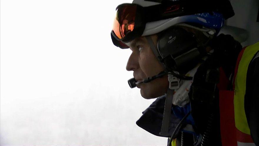 Alp Dağları'nda kurtarma operasyonu