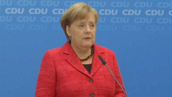 Merkel: Güçlü bir Almanya ve Avrupa için hemen çalışmaya koyulacağız