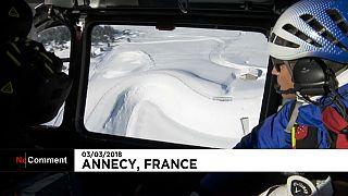 Rescate tras una avalancha en Francia
