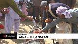 Día de gala para los cocodrilos del santuario de Manghopir en Pakistán