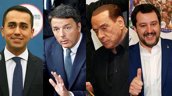 Maio, Renzi, Berlusconi and Salvini