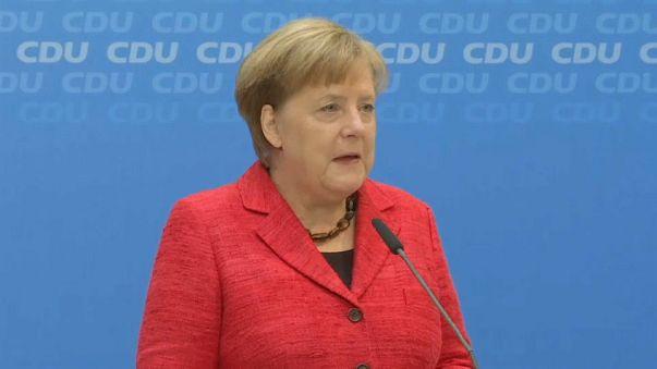 "Angela Merkel promet ""une voix forte"" à l'Allemagne"
