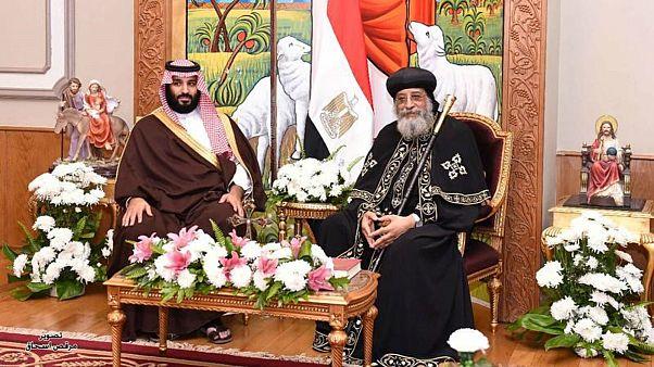 لقاء فريد يجمع ولي العهد السعودي مع بابا الأقباط الأرثوذكس