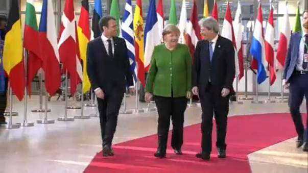 Macron, Merkel e Gentiloni