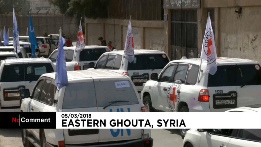 La ayuda humanitaria llega a Guta Oriental