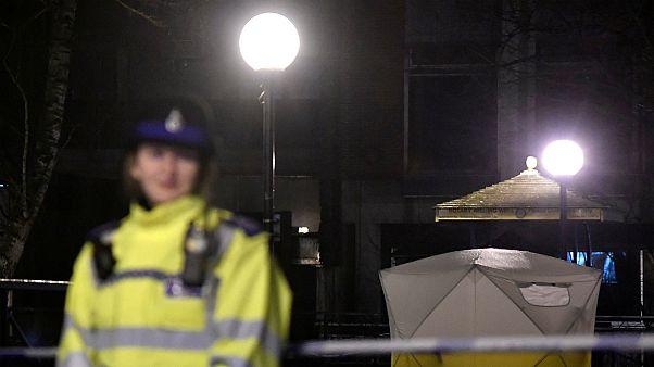 پلیس بریتانیا در محل حادثه