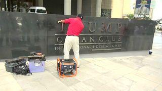 شاهد: إزالة أسم ترامب من على فندق في بنما بعد نزاع قانوني