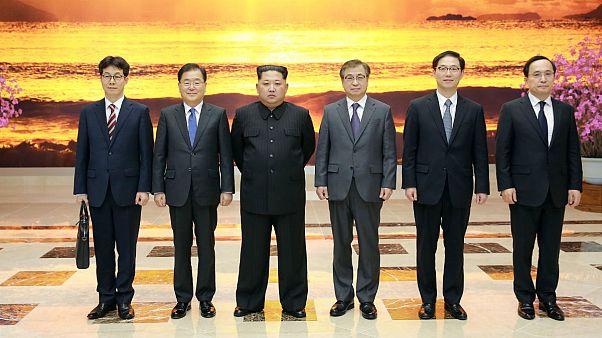 دیدار هیات سیاسی کره جنوبی با رهبر کره شمالی