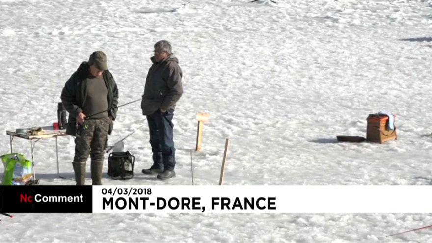 Abre la temporada de pesca en hielo en Francia