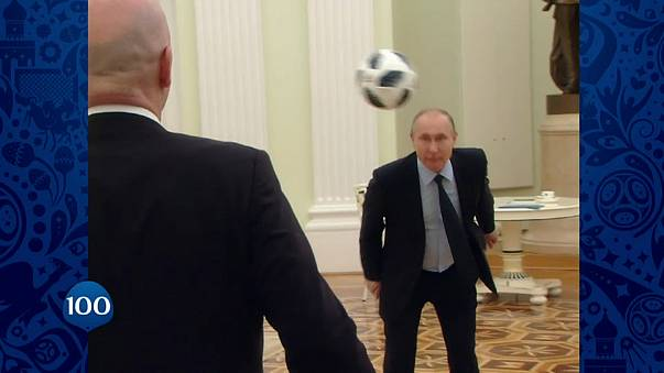 With final touch Vladimir Putin caps World Cup countdown video