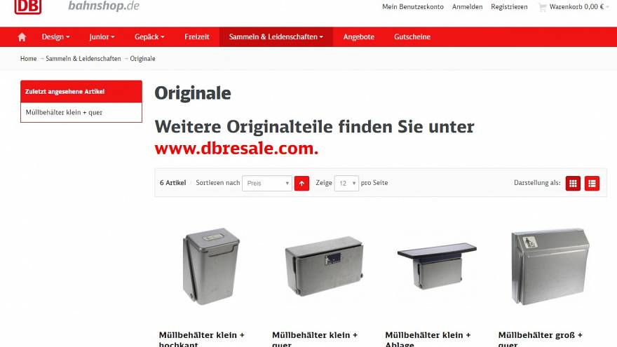 The bins from Deutsche Bahn's website