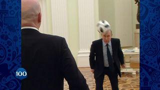 Putin am Ball: In 100 Tagen beginnt die Fußball-WM