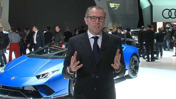 Lamborghini CEO Stefano Domenicali talks to euronews