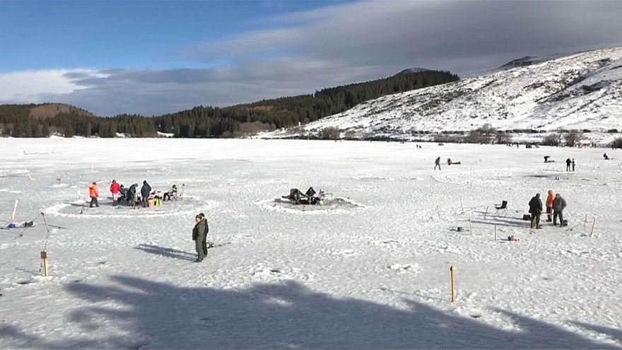 Pescar com temperaturas negativas