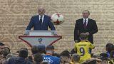 بازی فوتبال پوتین در ویدئوی تبلیغاتی فیفا
