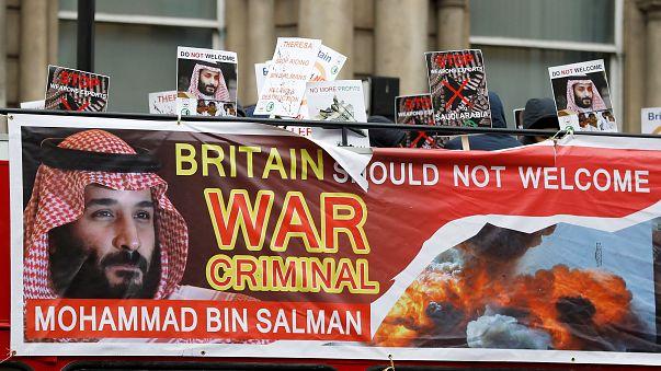 """بريطانيا تستقبل ولي العهد السعودي بالاحتجاجات و""""الصفقات"""""""