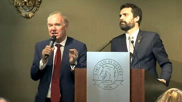 Torrent junto al presidente del Círculo de empresarios