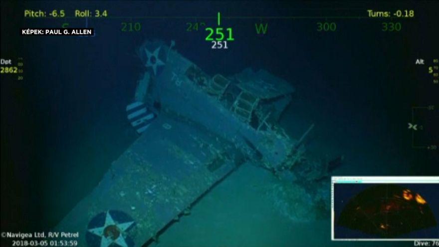 A második világháborúban elsüllyesztett anyahajót találtak