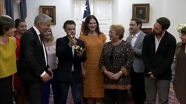 'A Fantastic Woman' team celebrates with President Bachelet