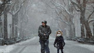 La neige perturbe New York