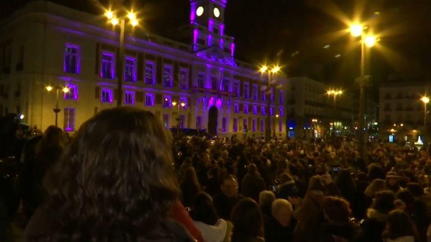 Una cacerolada en Madrid inicia la huelga feminista en España